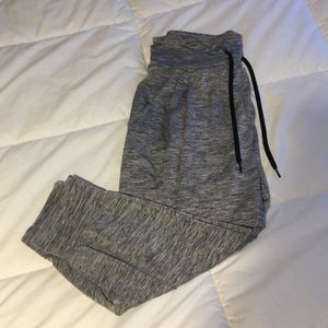 Grey and black striped joggers